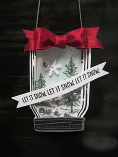 Krafting with Karen: Jar of Love Ornament Christmas in July