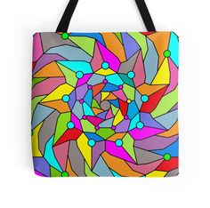 Colour Storm - Tote Bag - http://annumar.com/en/designs/colour-storm-tote-bag