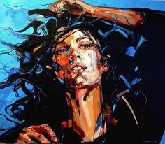 "Saatchi Art is pleased to offer the painting, ""Promises II,"" by Anna Bocek. Original Painting: Oil on Canvas. Size is 0 H x 0 W x 0 in. L'art Du Portrait, Abstract Portrait, Potrait Painting, Painting & Drawing, Pop Art, Images D'art, Art Visage, Arte Pop, Face Art"