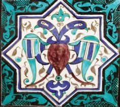 SELÇUKLU ÇİNİLERİ Turkish Art, Turkish Tiles, Ceramic Pottery, Pottery Art, Double Headed Eagle, Ancient Near East, Antique Tiles, Ottoman, Ceramic Design