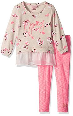 Juicy Couture Little Girls 2 Piece Pant Set Pink 4   Want to know more 29ea5c2fe