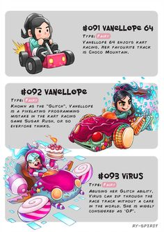 091 Vanellope 64 092 Vanellope 093 Virus by Ry Spirit Disney Pixar, Disney Memes, Disney Fan Art, Disney Animation, Disney And Dreamworks, Disney Cartoons, Disney Magic, Walt Disney, Disney Characters