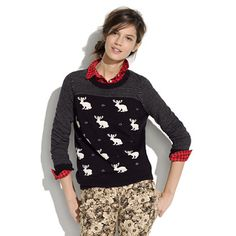 Jackalope Sweater- Reminds me of the old times of the sisterhood of the travelling jean jacket.