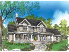 Farmhouse House Plan with 2506 Square Feet and 4 Bedrooms from Dream Home Source | House Plan Code DHSW04389