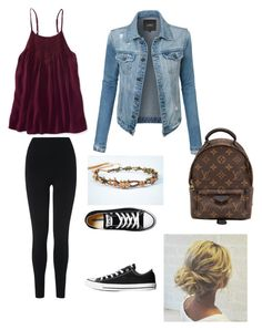 """school day #28"" by madison-kohut on Polyvore featuring Aéropostale, L.K.Bennett, LE3NO, Converse and Louis Vuitton"