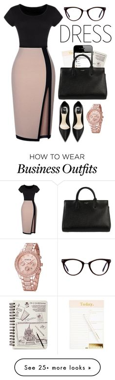 """""""work wear"""" by yoo6132 on Polyvore featuring GlassesUSA and Yves Saint Laurent"""