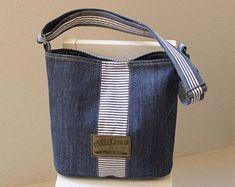 Upcycled Jean Bag, Cross body denim bag, Casual Denim Bag, Organic cotton, Recycled Denim Bag, Handbag, Shoulder bag, Code: Viki-01