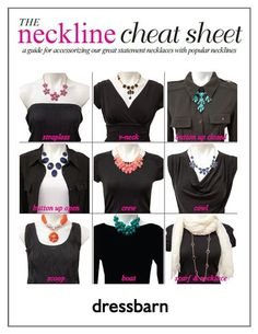 how to accessorize different necklines - Google Search