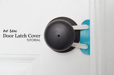 Project Nursery - No Sew Door Latch Cover