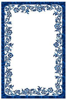fancy blue borders