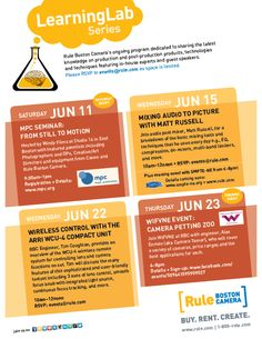 We hope to see you at one or all of these June events! Details available on our website at http://www.rule.com/events/.
