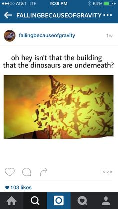Nah because the building was in de woods but still it would've been awesome if the dinos were loose. :3