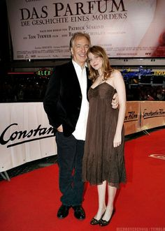"September 7, 2006 -- Alan Rickman and Rachel Hurd-Wood at the premiere of ""Perfume: The Story of a Murderer"" in Munich, Germany."