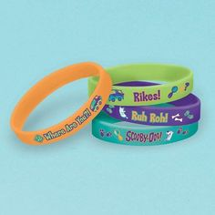 Scooby Doo Rubber Bracelet Favors (4 Pack) #Amscan #any