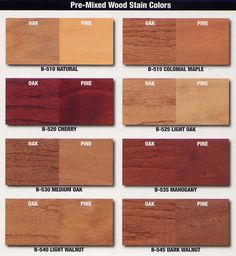Stains On Oak And Pine Wood Stain Colors Floor Red