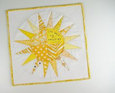 You Are My Sunshine Mini Quilt by During Quiet Time (Amy), via Flickr