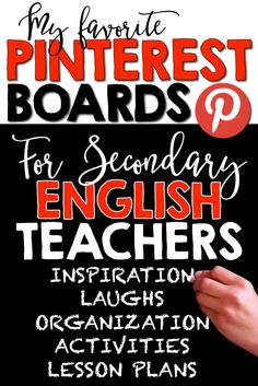 Awesome Pinterest boards for middle and high school English teachers