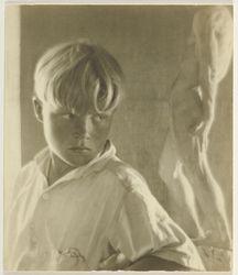Brett Weston; Imogen Cunningham (American, 1883 - 1976); San Francisco, California, United States; 1923; Gelatin silver print; 10.8 x 9.2 cm (4 1/4 x 3 5/8 in.); 87.XM.74.4; Copyright: © The Imogen Cunningham Trust