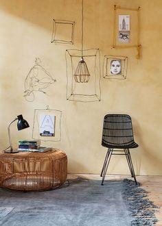 Decoración con muebles y accesorios de estructura alámbrica   Foto:J.Klazinga • Wire framed furniture and accessories