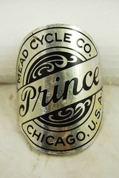 Vintage Mead Bicycle Co. Prince Cruiser NOS Aluminum Bike Head Badge