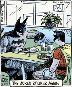 BIZARRO Comic Strip : BATMAN & ROBIN at Diner. - BAT - BLOG : BATMAN TOYS and COLLECTIBLES: November 2006