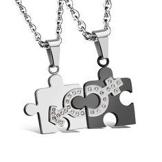 2 шт./много-fate love марка себе пара ожерелье подвески мужчины женщины мужчины женщины ювелирные изделия из нержавеющей стали цепи