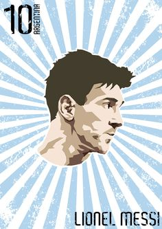 Great soccer superstars - Lionel Messi by Leonardo Patikowski, via Behance #soccer #poster