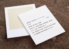 eric kass | business card for photographer mike slack (via…