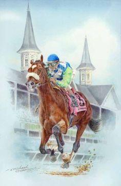 barbaro the race horse | Barbaro Race Horse Jockey Portrait Art Print Poster Posters