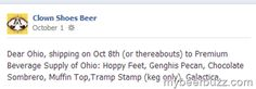 Clown Shoes Beer Enters Ohio Distribution 10/8