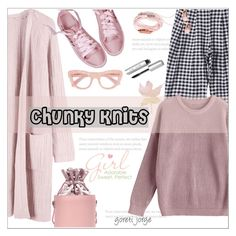 """""""Chunky Knits"""" by goreti ❤ liked on Polyvore featuring Bobbi Brown Cosmetics and Ganni"""