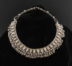 A necklace from north india likely rajasthan in high grade silver a necklace from north india likely rajasthan in high grade silver with many chains each link of which has an applied stamped granulation design aloadofball Images