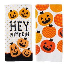 Hey Pumpkin Halloween Kitchen Towels 2 Pack Midnight Market http://www.amazon.com/dp/B00OHWULNI/ref=cm_sw_r_pi_dp_jbqyvb0XXF22S