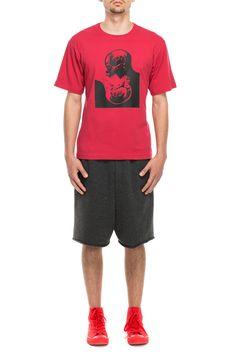 www.darktony.com Yin-Yang sculls printed t-shirt red 24.87€