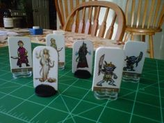DIY rpg pawns (Dungeons and Dragons, Pathfinder, etc...)
