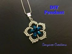 Gorgeous Flower Pendant - YouTube