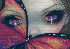 Tiny Treasure 49 ACEO Jasmine Becket-Griffith pop surreal fairy butterfly art