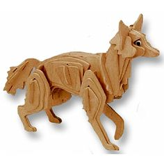 3-D Wooden Puzzle - Red Fox -Affordable Gift for your Little One! Item #DCHI-WPZ-M026