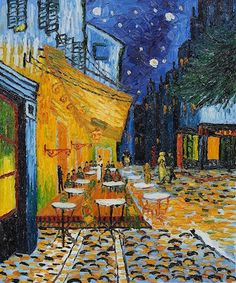 Van Gogh. Terrace of a Cafe at Night (Place du Forum). 1888.