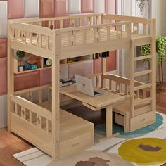 Made To Order Compact Bunk Bed/ Table & Chairs This modern bunk bed is . - Made To Order Compact Bunk Bed/ Table & Chairs This modern bunk bed is … - Kids Bed Design, Home Room Design, Bunk Bed Designs, Girl Bedroom Designs, Bedroom Ideas, Diy Furniture, Furniture Design, Beds For Small Rooms, Bunk Bed Rooms