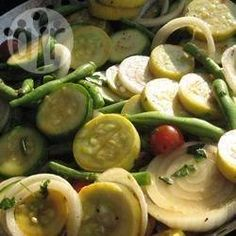 Foto recept: Gerookte groenten van de barbecue