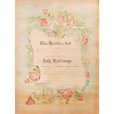 marriage certificate floral scroll weddingdepotcom 009 200 an elegant scroll