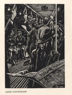Henry Glintenkamp, woodcut