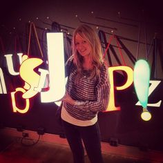 Fun with the glowing letters. Photo by atheenas via Instagram.