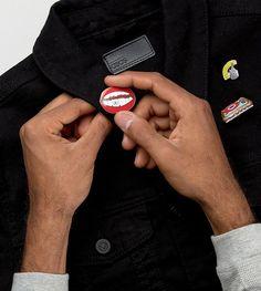 ASOS Pin Badge 3 Pack With Musical Designs - Multi