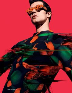 'Superman' - Roberto Bolle by photographer Daniel Sannwald for Vogue Russia 2014