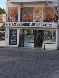 Larnaca Cyprus  Jewellery shop High street Cyprus Holiday, Jewelry Shop, Jewellery, Street, Jewlery, Jewels, Schmuck, Walkway, Jewelery