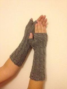 Need these to wear at work, it gets so cold in my office.  Dark Grey Long Fingerless Gloves Armwarmers  Hand by NesrinArt, $24.00