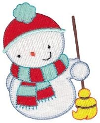 Snowbusiness Snowman 7 - 4x4 | Winter | Machine Embroidery Designs | SWAKembroidery.com Bunnycup Embroidery