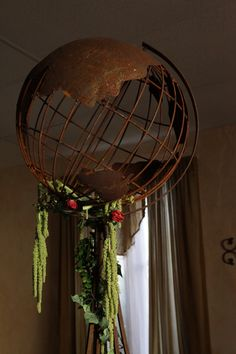 Metal globe 48 inches
